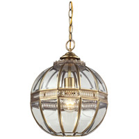 ELK Lighting Randolph 1 Light Pendant in Brushed Brass 22020/1