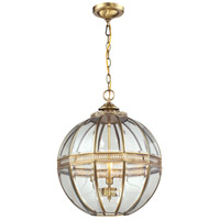ELK Lighting Randolph 3 Light Pendant in Brushed Brass 22021/3