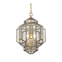 ELK Lighting Lavery 3 Light Pendant in Brushed Brass 22026/3
