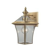 ELK Lighting Riverdale 1 Light Outdoor Sconce in Brushed Brass 22030/1