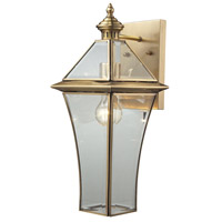 Riverdale 1 Light 18 inch Brushed Brass Outdoor Sconce