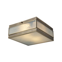 ELK Lighting Conley 2 Light Flushmount in Brushed Brass 22040/2