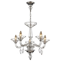 Exo 5 Light 26 inch Satin Nickel Chandelier Ceiling Light
