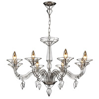 Exo 8 Light 37 inch Satin Nickel Chandelier Ceiling Light