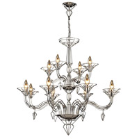 ELK Lighting Exo 12 Light Chandelier in Satin Nickel 23003/8+4