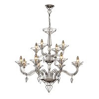 Exo 12 Light 40 inch Satin Nickel Chandelier Ceiling Light