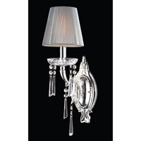 Princess 1 Light 6 inch Polished Silver Sconce Wall Light