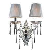 Princess 2 Light 17 inch Polished Silver Sconce Wall Light