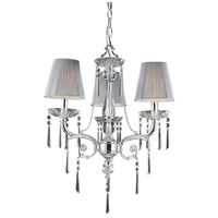 Princess 3 Light 20 inch Polished Silver Chandelier Ceiling Light