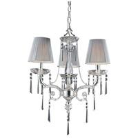 ELK 2395/3 Princess 3 Light 20 inch Polished Silver Chandelier Ceiling Light