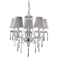 Princess 5 Light 23 inch Polished Silver Chandelier Ceiling Light