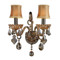 ELK Lighting Jolianne 2 Light Sconce in Black Nickel and Tan Crystal 24000/2