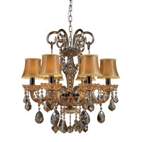 ELK Lighting Jolianne 6 Light Chandelier in Black Nickel and Tan Crystal 24001/6