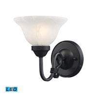 ELK Lighting Buckingham 1 Light Wall Sconce in Matte Black 241-BK-LED