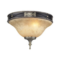 ELK Lighting Georgian Court 2 Light Flush Mount in Antique Bronze & Dark Umber 2424/2