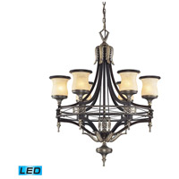 ELK Lighting Georgian Court 6 Light Chandelier in Antique Bronze & Dark Umber 2431/6-LED
