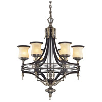 Georgian Court 6 Light 31 inch Antique Bronze & Dark Umber Chandelier Ceiling Light in Standard