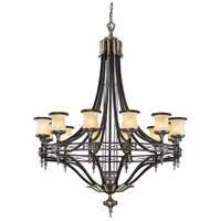 Georgian Court 12 Light 48 inch Antique Bronze & Dark Umber Chandelier Ceiling Light in Standard