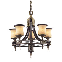 Georgian Court 5 Light 25 inch Antique Bronze Chandelier Ceiling Light