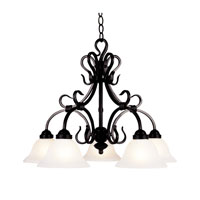 Buckingham 5 Light 26 inch Matte Black Chandelier Ceiling Light in Standard