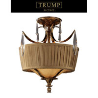 ELK Lighting Trump Home Westchester Bedminster 2 Light Semi-Flush Mount in Burnt Gold Leaf 2459/2