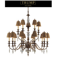 Bedminster 18 Light 48 inch Burnt Gold Leaf Chandelier Ceiling Light