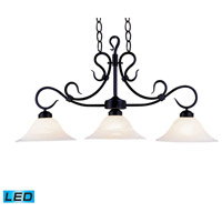 ELK Lighting Buckingham 3 Light Billiard/Island in Matte Black 247-BK-LED