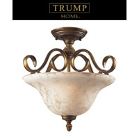ELK Lighting Trump Home Westchester Briarcliff 2 Light Semi Flush in Weathered Umber 2476/2