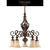 ELK Lighting Trump Home Westchester Briarcliff 5 Light Chandelier in Weathered Umber 2477/5