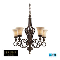 ELK Lighting Briarcliff 5 Light Chandelier in Weathered Umber 2479/5-LED