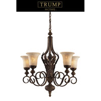 ELK Lighting Trump Home Westchester Briarcliff 5 Light Chandelier in Weathered Umber 2479/5