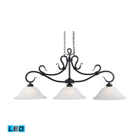 ELK Lighting Buckingham 3 Light Billiard/Island in Matte Black 248-BK-LED