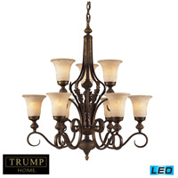 ELK Lighting Briarcliff 9 Light Chandelier in Weathered Umber 2480/6+3-LED