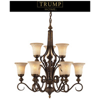 ELK Lighting Trump Home Westchester Briarcliff 9 Light Chandelier in Weathered Umber 2480/6+3