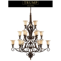 ELK Lighting Trump Home Westchester Briarcliff 15 Light Chandelier in Weathered Umber 2481/6+6+3