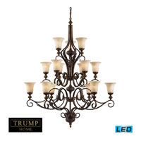 ELK Lighting Briarcliff 15 Light Chandelier in Weathered Umber 2481/6+6+3-LED photo thumbnail