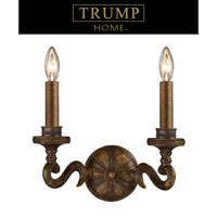 ELK Lighting Trump Home Westchester Millwood 2 Light Sconce in Antique Bronze 2492/2