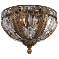Millwood 4 Light 15 inch Antique Bronze Flush Mount Ceiling Light, Trump Home