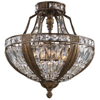 Millwood 6 Light 18 inch Antique Bronze Semi Flush Mount Ceiling Light