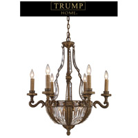 ELK Lighting Trump Home Westchester Millwood 10 Light Chandelier in Antique Bronze 2496/6+4
