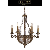 Millwood 10 Light 25 inch Antique Bronze Chandelier Ceiling Light, Trump Home