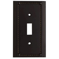 ELK Lighting Clickplate Lighting Accessory in Aged Bronze 2501AGB