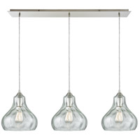 Belmont 3 Light 36 inch Satin Nickel Linear Pendant Ceiling Light