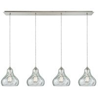 ELK 25100/4LP Belmont 4 Light 46 inch Satin Nickel Linear Pendant Ceiling Light