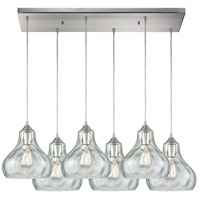 Belmont 6 Light 32 inch Satin Nickel Pendant Ceiling Light in Rectangular Canopy