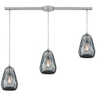 Tulare 3 Light 38 inch Satin Nickel Linear Pendant Ceiling Light in Linear with Recessed Adapter