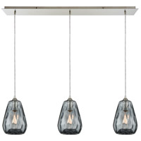 Tulare 3 Light 36 inch Satin Nickel Linear Pendant Ceiling Light