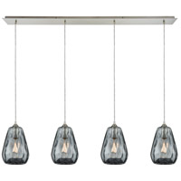 Tulare 4 Light 46 inch Satin Nickel Linear Pendant Ceiling Light
