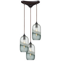 Sutter Creek 3 Light 12 inch Oil Rubbed Bronze Pendant Ceiling Light in Triangular Canopy