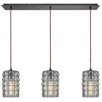 Murieta 3 Light 36 inch Oil Rubbed Bronze Linear Pendant Ceiling Light